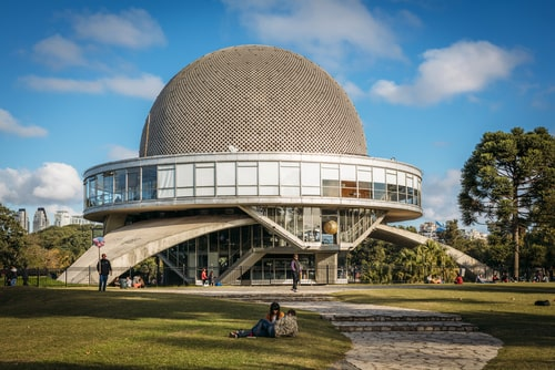 View of Galileo Galilei planetarium, commonly known as Planetario