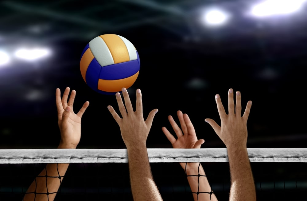 players playing volleyball. Volleyball facts